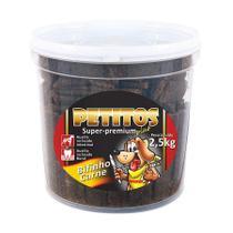 Bifinho De Carne 2,5kg Petitos Balde Super Premium Petisco -