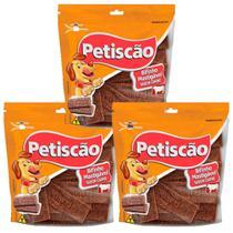 Bifinho De Carne PETISCAO KIT COM 3 PACOTES COM 500 gramas cada - Ceti