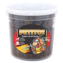 Bifinho Petitos Carne Para Cachorro 2,5 Kg -