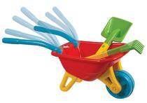 Big Carriola Infantil Carrinho De Mão com Rastelo e Pá Vermelha Magic Toys -