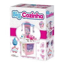 Big Cozinha Sai Agua na Torneira Menina + Brinquedo Big Star -