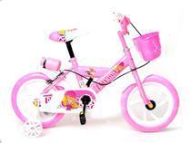 Bike Aro 14 Infantil Bicicleta Meninas C/ suporte P/ Squeeze (1500) - Unitoys
