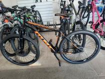 Bike aro 29 mnc preta e laranja de alumínio pr trilha - Monaco