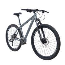 Bike Aro 29 - Tam. 17 - 20v - RAVA PRESSURE Cinza e Preto Camb. X-TIME Quadro Alumínio -