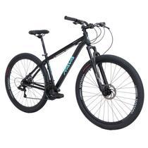 Bike Aro 29 - Tam. 17 - 21v - RAVA PRESSURE Preto e Azul Câmbio Shimano Quadro Alumínio -