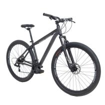 Bike Aro 29 - Tam. 19 - 21v - RAVA PRESSURE Cinza e Preto Câmbio Shimano Quadro Alumínio -