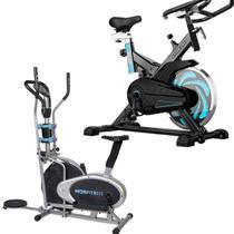 Bike Spinning ONeal TP1000 Semi Profissional + Bicicleta Ergométrica Elíptica Mor -