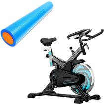 Bike Spinning ONeal TP1000 Semi Profissional + Rolo Yoga 90x15cm Liveup