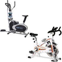 Bike Spinning ONeal TP1100 Semi Profissional + Bicicleta Ergométrica Elíptica MOR -