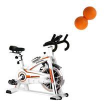Bike Spinning ONeal TP1100 Semi Profissional + Bola de Massagem Amendoim Liveup -