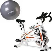Bike Spinning ONeal TP1100 Semi Profissional + Bola Suiça 85cm LiveUp LS3222 85 PR -