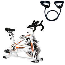 Bike Spinning ONeal TP1100 Semi Profissional + Elástico Extensor 1 Via Tensão Extra Forte LIVEUP -