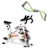 Bike Spinning ONeal TP1100 Semi Profissional + Elástico Extensor em Oito Tensão Média LIVEUP -