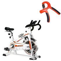 Bike Spinning ONeal TP1100 Semi Profissional + Hand Grip Ajustável 10 a 40 kg LIVEUP -