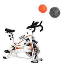 Bike Spinning ONeal TP1100 Semi Profissional + Kit 2 Bolas Massageadoras Cravos Relax Ball LIVEUP