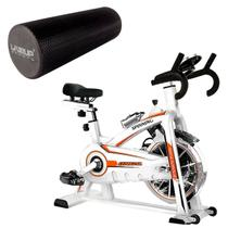 Bike Spinning ONeal TP1100 Semi Profissional + Rolo EVA Pilates Miofascial LiveUp