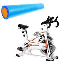 Bike Spinning ONeal TP1100 Semi Profissional + Rolo Yoga Pilates 90x15cm LIVEUP -