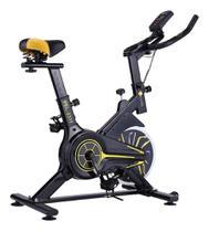 Bike Spinning Pelegrin Preta e Amarela Pel-2311 -