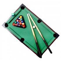 Bilhar de Mesa Sinuca Snooker Portátil Tacos e Bolas 31x51cm - Maclen