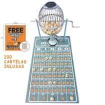Bingo Globo Cromado Nº1 Completo C/ 200 Cartelas - Treis Reis