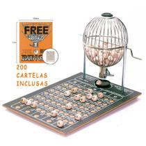 Bingo Globo Cromado Nº2 Completo C/ 200 Cartelas - Treis Reis