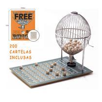 Bingo Globo Cromado Nº3 Completo C/ 200 Cartelas - Treis Reis