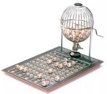 Bingo Profissional Médio Nº 2 Globo Cromado com 200 Cartelas - Treis Reis