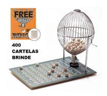 Bingo Profissional Nº 3 (Grande) Cromado 75 Bolinhas + 400 cartelas - Treis Reis