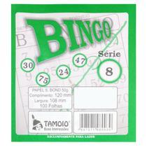 Bingo Tamoio Verde 100 Folhas -