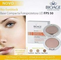 Bio Sun Block Base Compacta Fps50 Bege Claro Bioage -
