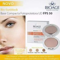 Bio Sun Block Base Compacta Fps50 Bege Médio Bioage -