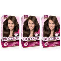 Biocolor Coloração Kit 7.0 Louro Natural (Kit C/03) -
