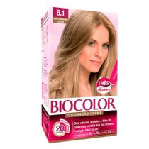 Biocolor Coloração Kit 8.1 Louro Cinza Suave -