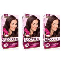 Biocolor Coloração Mini 4.5 Acaju Escuro Poderoso (Kit C/03) -
