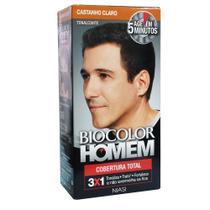 Biocolor homem tonalizante castanho claro -