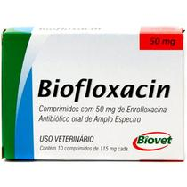 Biofloxacin Antibiótico P/ Cães E Gatos 50mg 10 Compromidos - Biovet