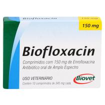 Biofloxacin Biovet 150mg c/ 10 Comprimidos -