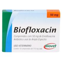 Biofloxacin Biovet 50mg c/ 10 Comprimidos -