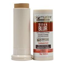 Biomarine Base Bastão com Protetor Solar Stick Blur FPS 75 PPD 25 Chocolate 18g -