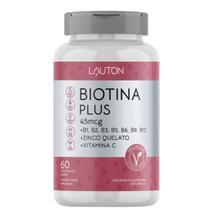 Biotina Concentrada com Vitaminas B + C + Zinco - 60 Capsulas Lauton - Cabelo - Pele e Unha -