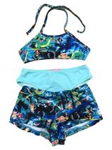 Biquini Infantil 3 Peças - Busto + Calcinha + Shorts - New Beach -