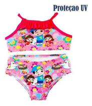 Biquini Infantil Lucas Neto Moda Praia Verão Com Proteção Uv - Anjo Da Mamãe