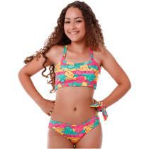 Biquíni Infantil Top Tracional de Gatinho - Cecí Moda Praia