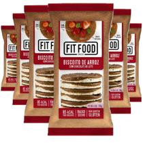 Biscoito de Arroz Choc ao Leite FIT FOOD 80g (6 und) -