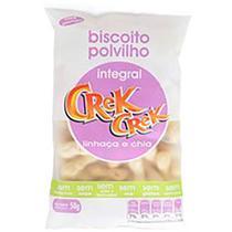 Biscoito de Polvilho Integral Linhaça e Chia Crek Crek 50g - Crekcrek