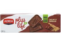 Biscoito Doce Cacau e Cereais Integral Plus Life - Adria 130g