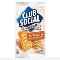 Biscoito Integral Tradicional 24g - 44 embalagens c/ 6 unidades - Clube Social -