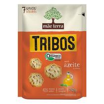 Biscoito Orgânico Tribos Sabor Azeite e Ervas Mãe Terra 50g -