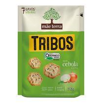 Biscoito Orgânico Tribos Sabor Cebola e Salsa Mãe Terra 50g -