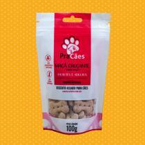 Biscoito PraCães Maçã Crocante-Petisco Premium pra cães, filhotes e adultos, sem açúcar, sem sal. -